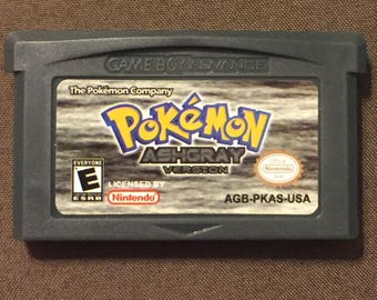 Pokemon Ash Grey Fan Made Custom Game Boy Advance Game. Saves! Ash Gray AshGrey GBA GameBoy Advance GameBoy Advance GBA