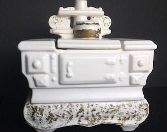 Vintage McCoy White Stove Cookie Jar