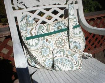Paisley Prism Hobo Bag