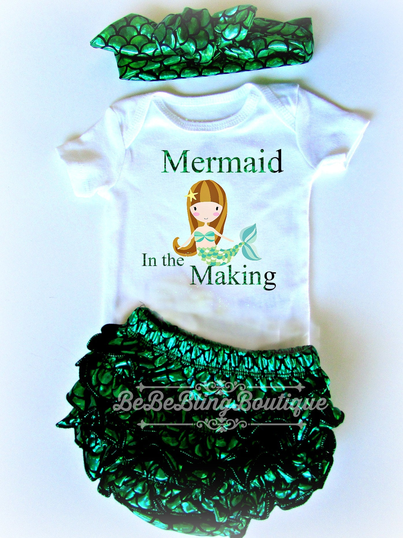 Baby girl MERMAID outfit Mermaid baby girl set take home
