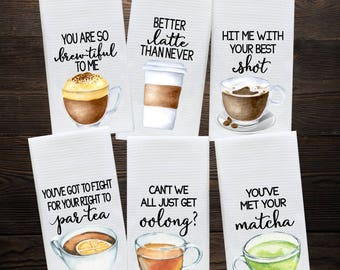 Coffee Lover Gift - Coffee and Tea Decor - Hostess Gift - Dish Towels - Housewarming Gift - Gift For Mom - Wedding Shower Gift - Hand Towel