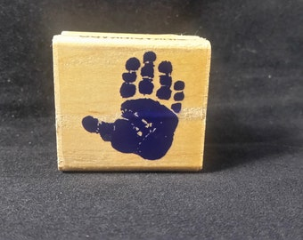 Hand Print Rubber stamp Used