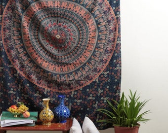 Dorm Decor Boho Hippie Indian Handmade Mandala Tapestry Twin Size Wall Hanging Multi Purpose