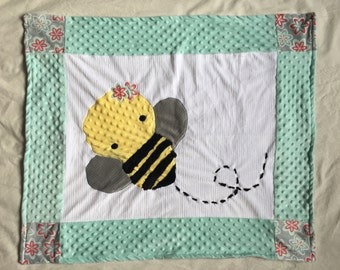 Bee Minky Baby Blanket