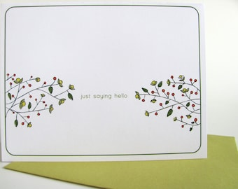 Just Saying Hello - Blank All Occasion Note Card