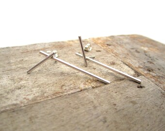 Silver Earrings Lines minimal earrings minimalist