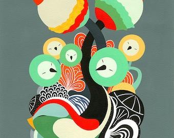 Singular Flora Giclee Print - 42 x 30 cm - Fine Art Print - Modern Art Print - Nursery Decor - Colorful Art Print - Housewarming Gift