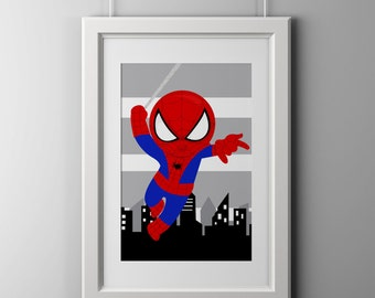 quality prints, custom any SUPERHERO print, shipped to your door, super hero wall art, wall decor