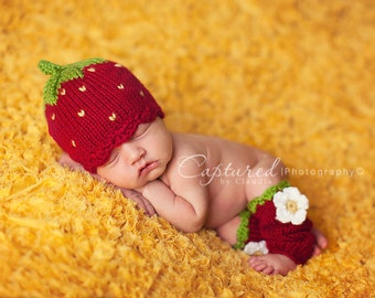 The Little Strawberry -  Made To Order, Newborn Size