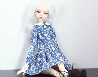 Cotton dress for msd doll chateau kid k-7/k-11 body