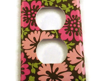 Wall Decor Light Switch Plate Outlet Cover Switch Plate in  Cherry Blossom  (303O)