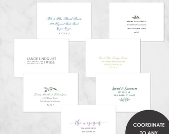 Printed Envelopes | Invitation Envelope Printing | Guest Address Printing | Digital Calligraphy | Envelope Addressing | Wedding Address UG01