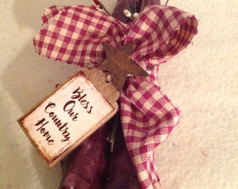 Grubby Candles, Dipped Candles, Pair of Candles, Rustic Candles, Americana Decor, Country Decor, Primitive Decor,