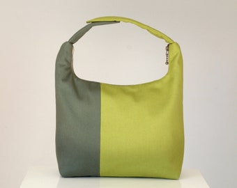 Insulated Lunch Bag Colorblock, Women Lunch Bag,Insulated Baby Food Carrier, Lunch Tote-Army Green and Olive Green Colorblock