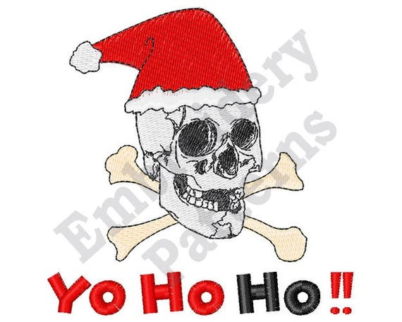 6be3f1ea1e1 Skull Santa Hat - Machine Embroidery Design from EmbPatterns on Etsy ...