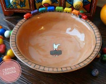 "Ceramic bowl ""Funny train"""