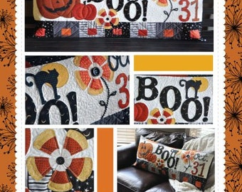 Halloween Boo Bench Pillow Pattern designed by KimberBell