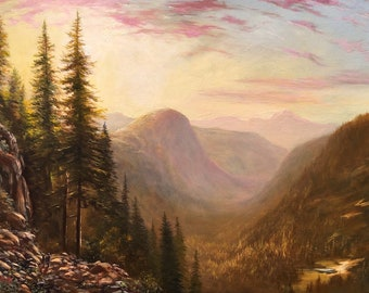 Original Landscape Oil Painting framed, 15 x 20