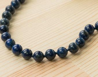 Men's necklace Men's beads necklace Men's stone necklace Men's gift for men healing necklace for men Lapis necklace Meditation necklace blue