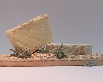 Lavender & Oats Soap Bar | Pure Olive Oil Bar | 100% Homemade-Handmade