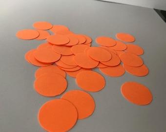 "50 neon orange .98"" circles"