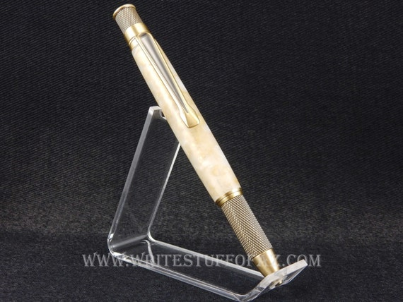 Retro Twist Pen, Ecru Acrylic Resin, Parker Refill