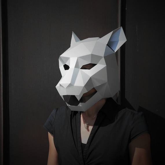 Fabulous Jaguar Mask build your own from card using our polygon mask AT65