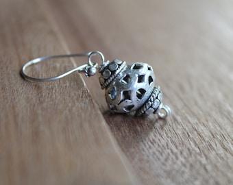Kenitra Silver Ethnic Lantern Earrings