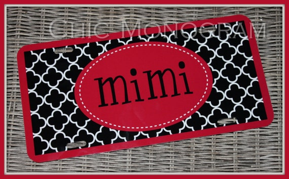 Personalized Monogrammed License Plate Car Tag, Mothers Days Gift, Monogram License Plate, Personalized License Plate, Monogram Car Tag