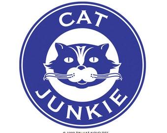 Cat Junkie Sticker