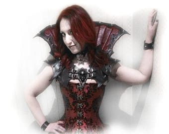 "The ""VILLAINE"" Flared Leather Collar OOAK"