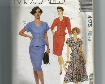 McCall's Misses' Two Piece Dress Pattern 4175