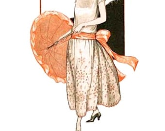 One Hour Dress, 1920s Flapper Girl Dress, Vintage Sewing Method, eBook by Merritt's Closet, INSTANT DOWNLOAD PDF