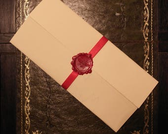 Personalised Letter with Wax Seal and Ribbon