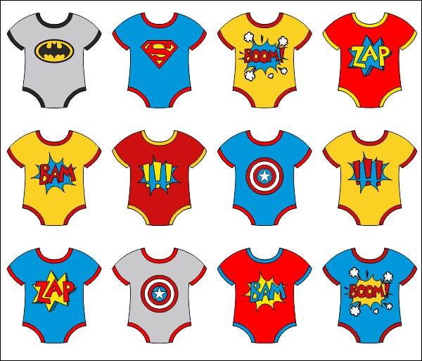 Baby Superhero Onesies Clip Art Superhero Boom Zap Bam