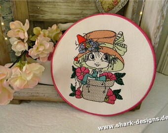 Embroidery File Flower-Doll-3 in 9 Sizes, machine embroidery,