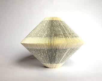 Night Train to Lisbon - Book Art: folded Book Sculpture
