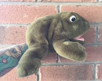 Marionnette à main grenouille Vintage