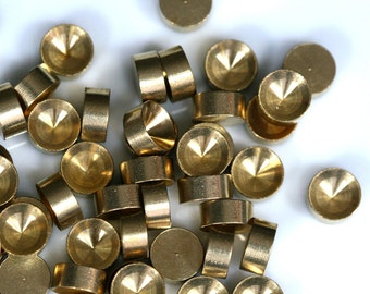 20 PCS Raw Brass 7 mm Pendant finding Setting 1546