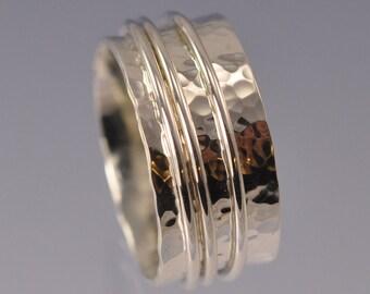 Spinning Ring 10mm Sterling Silver
