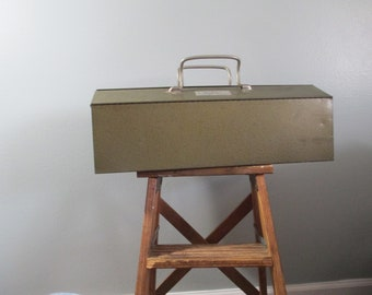 """Vintage Industrial Tool Box """"TURNER Model no. 1006""""  Made In Sycamore,Illinois  Mechanic's Box, Industrial Machinist , Near Mint Condition"""