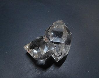 Beautiful Herkimer diamond cluster, 29gm,  Herkimer quartz, diamond quartz, mineral specimen, wire wrapping