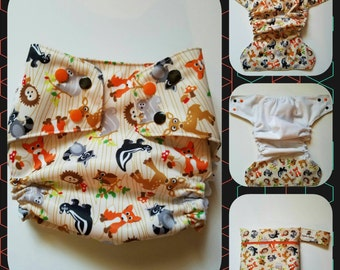Forest Friends Cloth Diaper and WetBag
