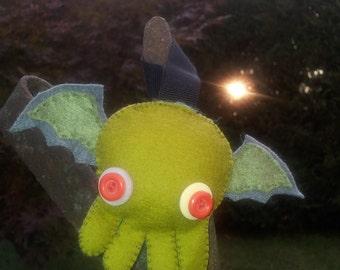 KeyChan Little chibi Chtulhu keychain plushie phone strap mascotte handmade cute kawaii