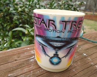Vintage Star Trek Cup.  1979 Deka Hard Plastic Cup.