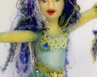 Serenity Mermaid Sewing Pattern for Cloth Dolls by Tamdoll
