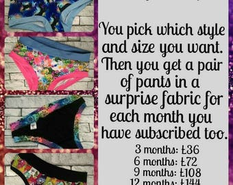 Monthly Scrundies 12 Month Subscription