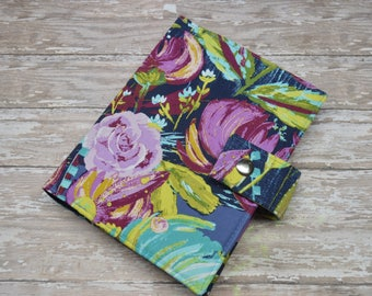 Planner Cover - in Art Gallery Sage Painted Desert fabric - F2