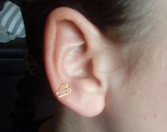 Cute Gold Brass Ear Cuff