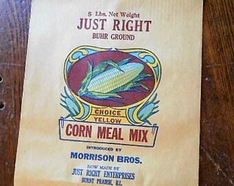 Antique Art Nouveau Just Right Corn Meal Bag